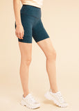B3 x Beyond Yoga Navy High Waisted Spacedye Bike Shorts
