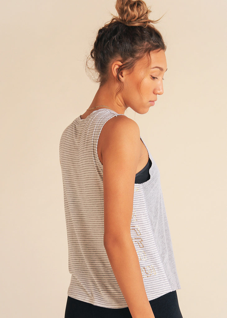 Dual Striped Triangle Tank