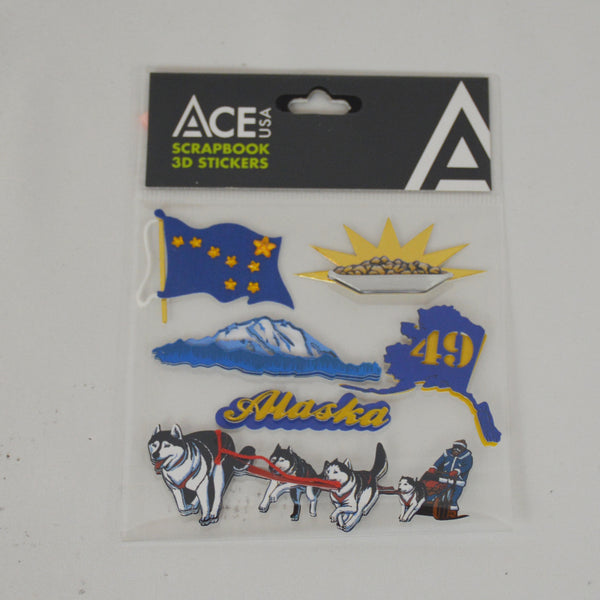 49th State 3D Scrapbook Stickers