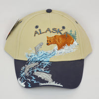 Fishing Bear Baseball Hat