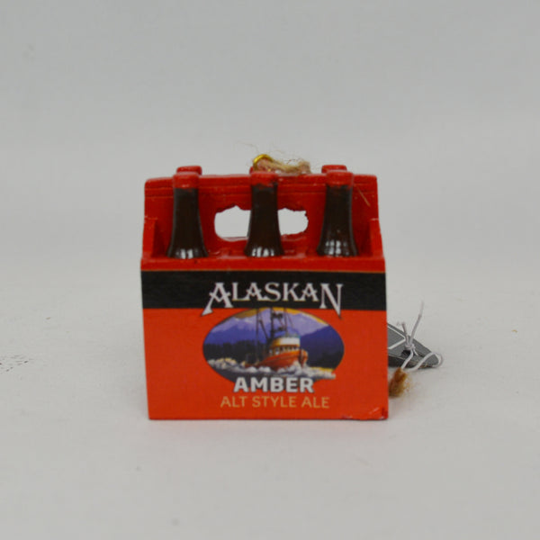 AK Brewing Amber Ale 6-Pack Ornament