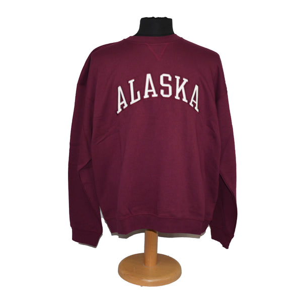 Alaska Applique Maroon Sweatshirt