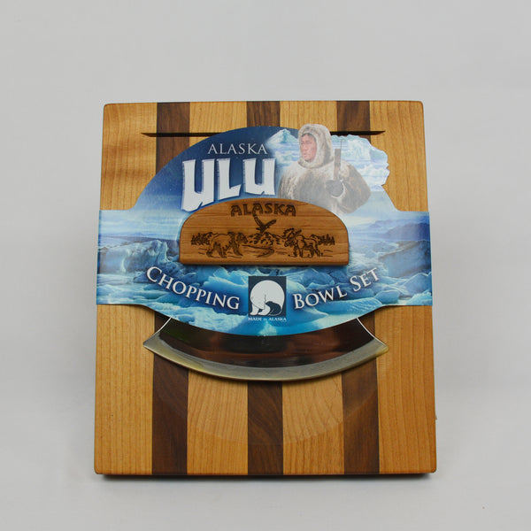 Made in Alaska Ulu Knife with Chopping Block