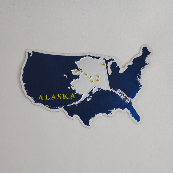 Alaska and US Foil Sticker