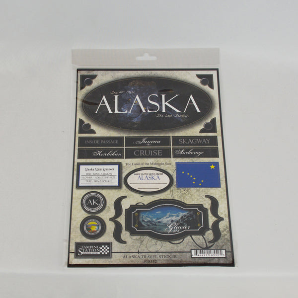 Alaska State Travel Stickers