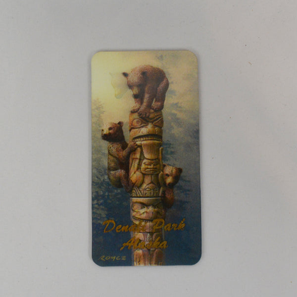 Bear Cubs and Totem Pole 3D Magnet