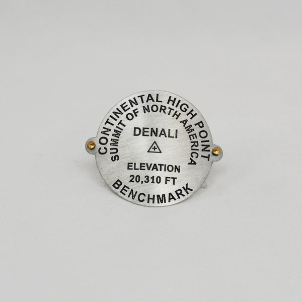Denali Benchmark Hiking Staff Medallion