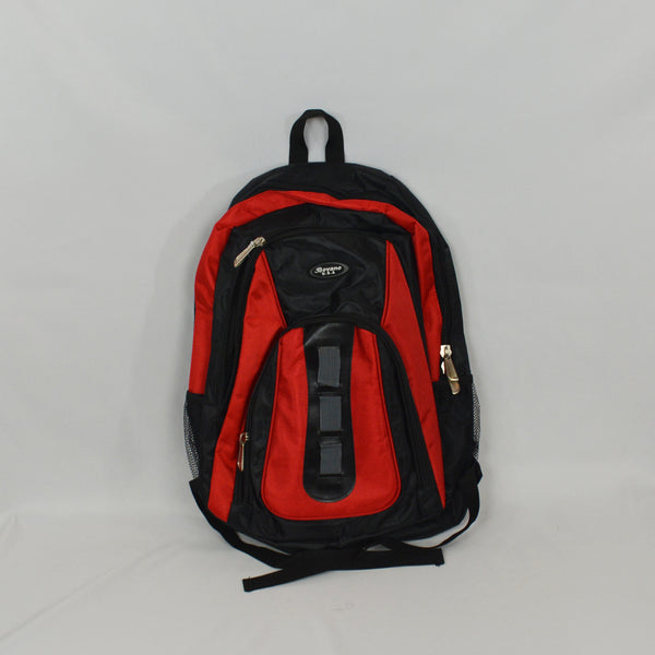 Bovano U.S.A. Red and Black Backpack