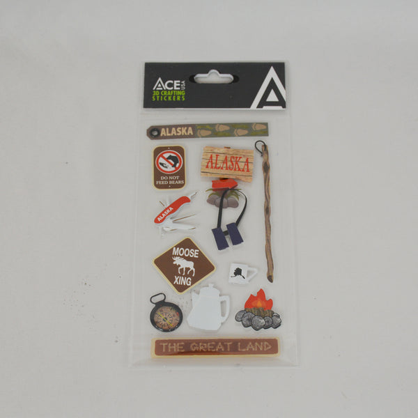 Camping 3D Crafting Stickers