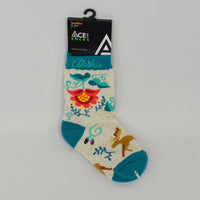 Crewel Moose Toddler Sock