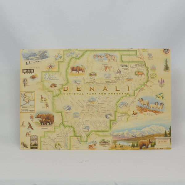 Denali Map Wood Sign