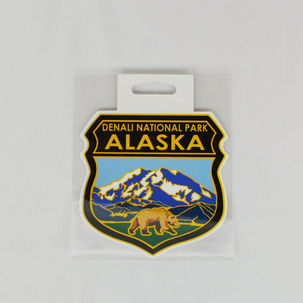 Denali National Park Shield Sticker