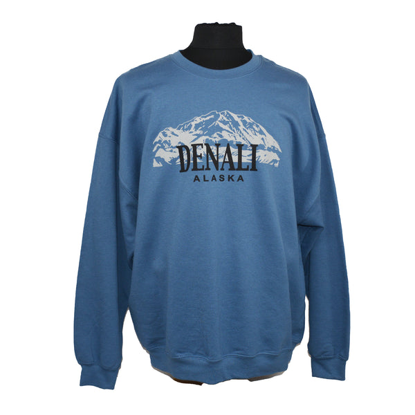Denali Mountain Blue Sweatshirt