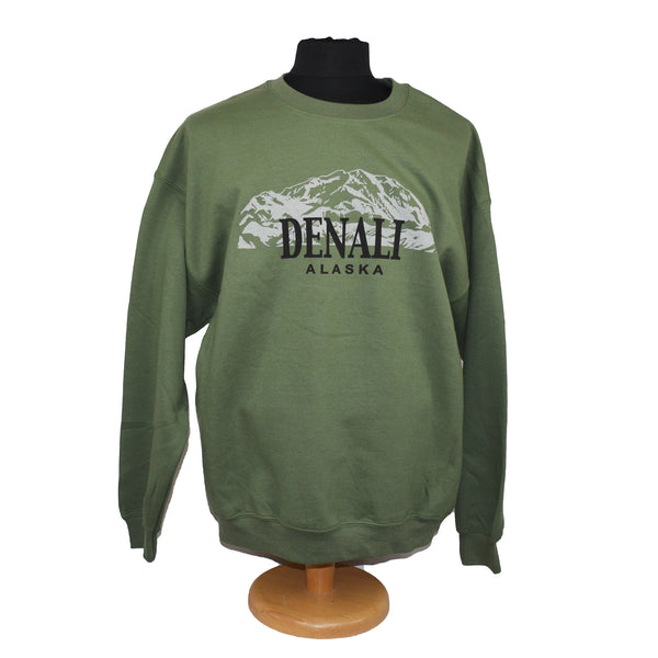 Denali Mountain Green Sweatshirt