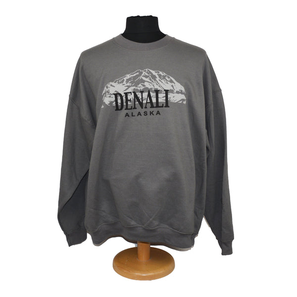 Denali Mountain Charcoal Sweatshirt