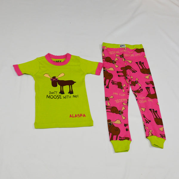Don't Moose With Me! Green Kid PJ Set