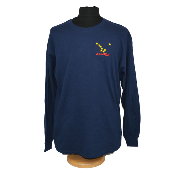 Embroidered Dipper Adult Long Sleeve T-Shirt