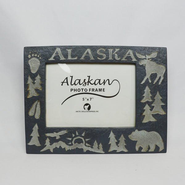 Grey Alaska Animals Picture Frame