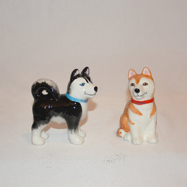 Husky Salt and Pepper Shakers