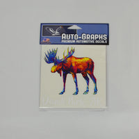 Impressionist Moose Decal