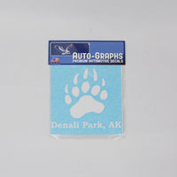 Grizzly Paw Decal
