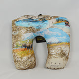 Convertible Travel Pillow Pictorial Alaska Map