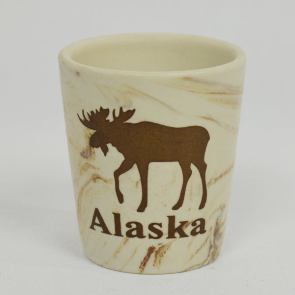 Marble Moose Shot Glass