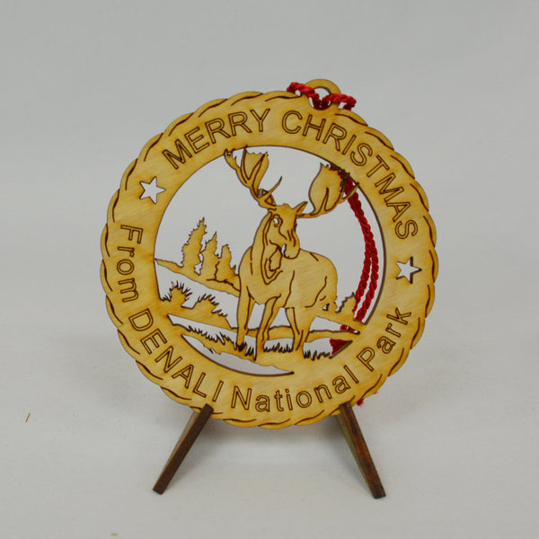 Merry Christmas from Denali National Park Ornament