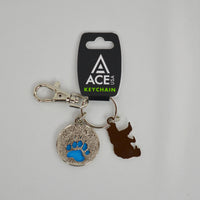 Metal Bear Charm Key Chain