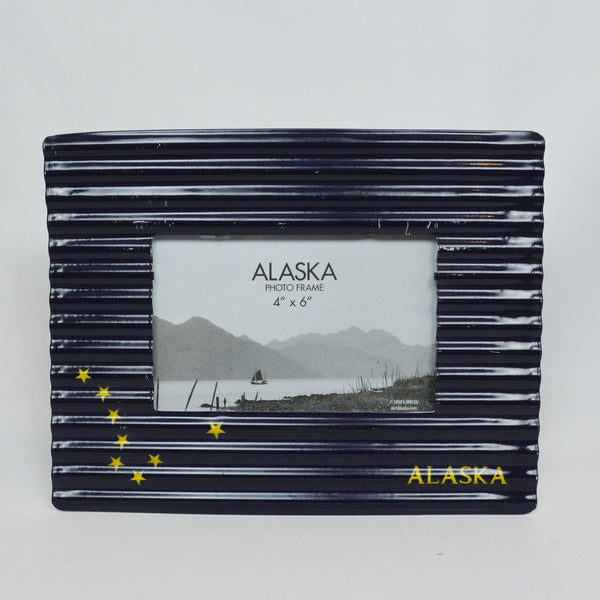Metal Alaska Flag Picture Frame