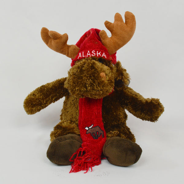 Moose with Cap & Scarf