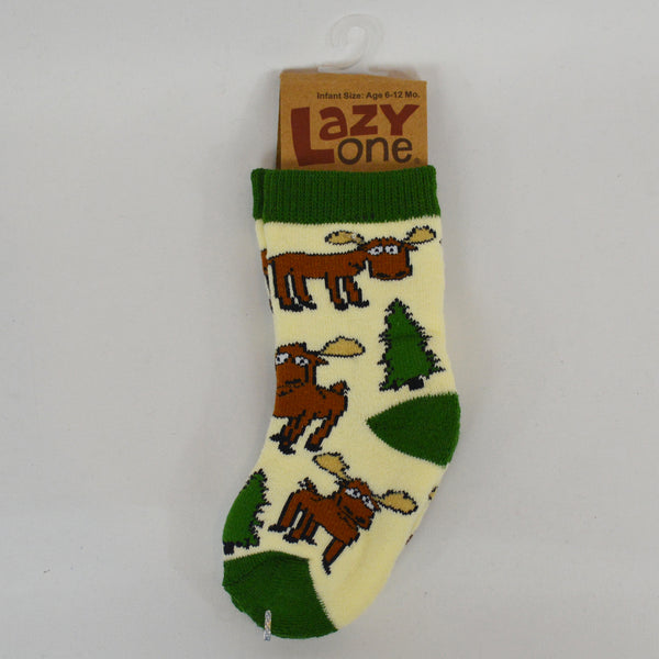 Moose Hug Green Infant Sock