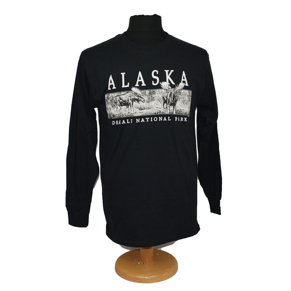 Moose in Creek Adult Long Sleeve T-Shirt