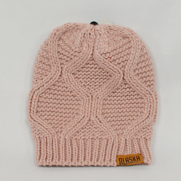 Cable Knit Pink Hat