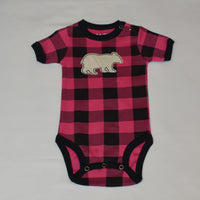 Plaid Bear Applique Onesie