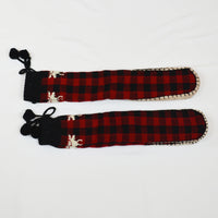 Red Plaid Muckluk Slipper