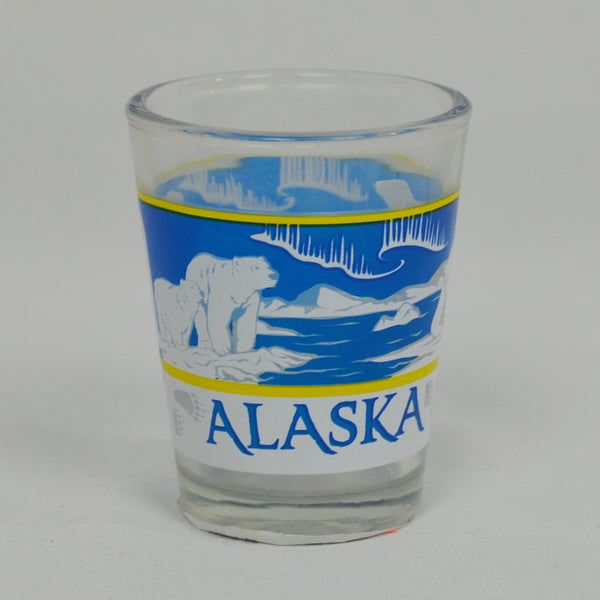 Polar Bear Scene Shot Glass