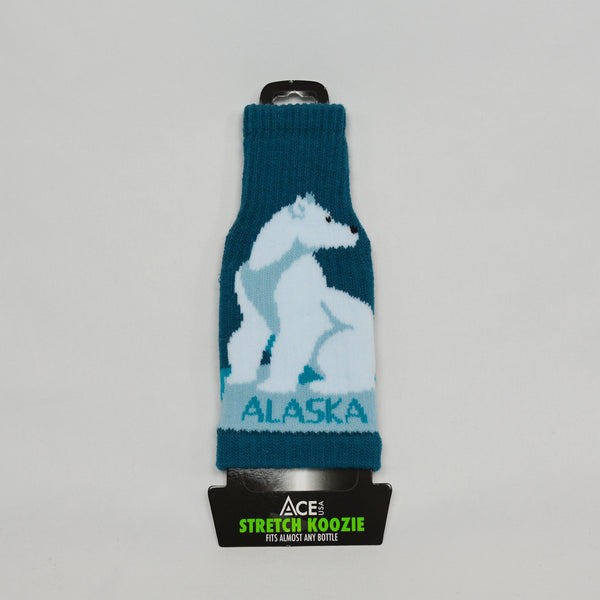 Polar Bear Stretch Bottle Coozie