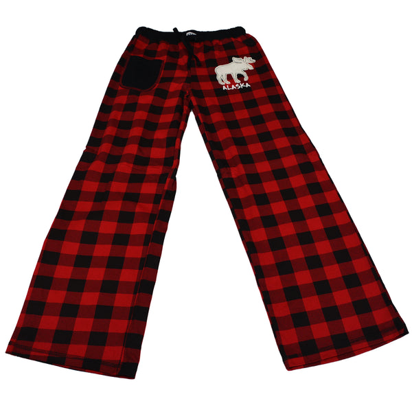 Moose Plaid Ladies Pajama Pants