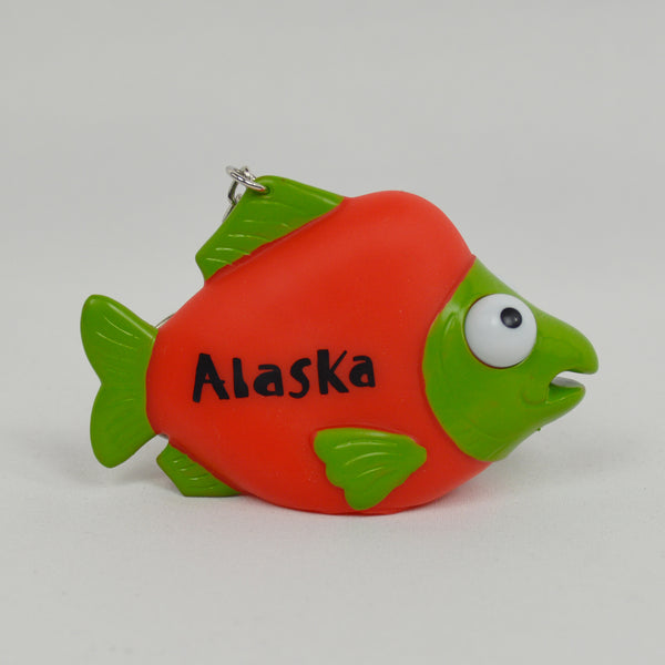 Eye Popper Salmon Keychain