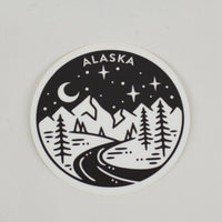 Starry Night River Sticker