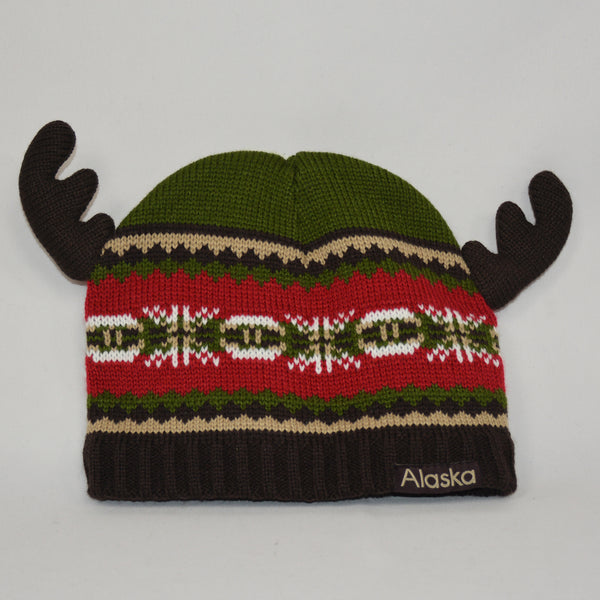 Boy Toddler Knit Hat with Antlers