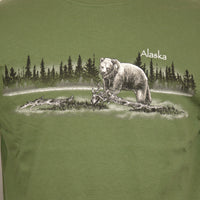 Swamp Grizzly Adult Long Sleeve T-Shirt