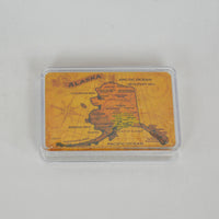 Historic Map Clear Case Playing Cards