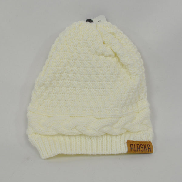 Chunky White Knit Hat
