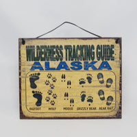 Wilderness Tracking Guide Sign