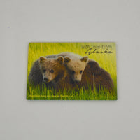 With Love From Alaska Bear Magnet
