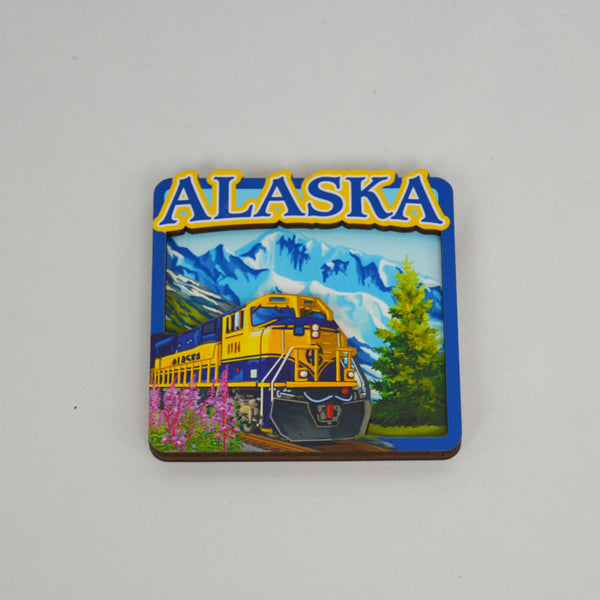 Train 3D Wood Magnet