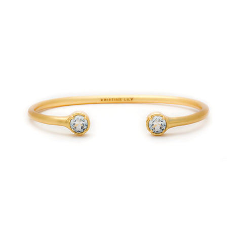 blue topaz bangle - Kristine Lily
