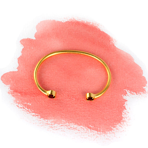 gold gemstone bangle by Kristine Lily